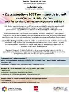 Discriminations LGBT en milieu de travail: sensibilisation et pistes d'actions